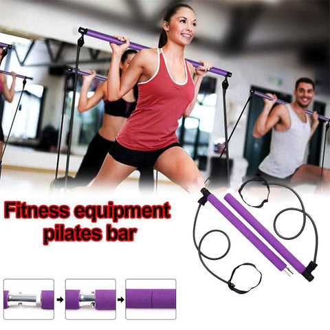 Resistance Band Pilates Bar-Workout-Smart Ab Now