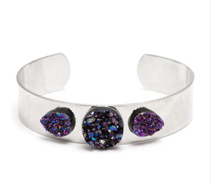Mini DIY Silver Cuff Bracelet Kit Purple