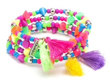 Load image into Gallery viewer, Mini DIY Tassel Bracelet Kit Neon