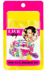 Mini DIY Tassel Bracelet Kit Neon