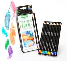 Crayola Tri-Shade Colored Pencils With Decorative Tin, 12 Count