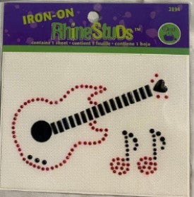 Iron-On RhineStuds Guitar Combo