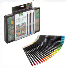 Load image into Gallery viewer, Crayola Signature Blend & Shade Colored Pencil Set with Decorative Tin - 50 Count