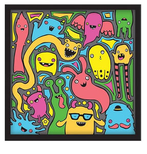 3-D Monster Pop Paint By Number Craft Kit