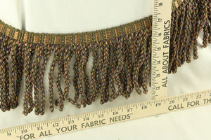 Tortoise Shell Green and Gold Fringe 6""