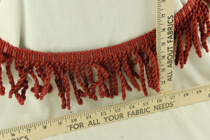 Very Berry Red Fringe 4""