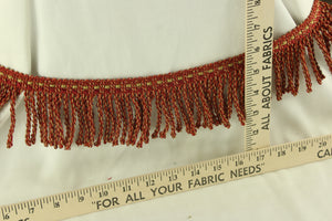 Scarlet Flame Red Fringe 3""