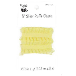 "Lemonade 7/8"" Sheer Ruffle Elastic"