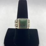 Sterling Silver Jadeite Ring SIZE 10.25