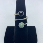 Sterling Silver Jadeite Ring SIZE 9.50-10.50