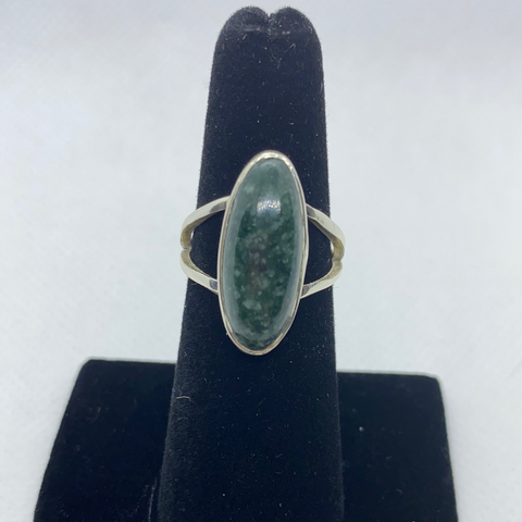 Sterling Silver Jadeite Ring SIZE 7