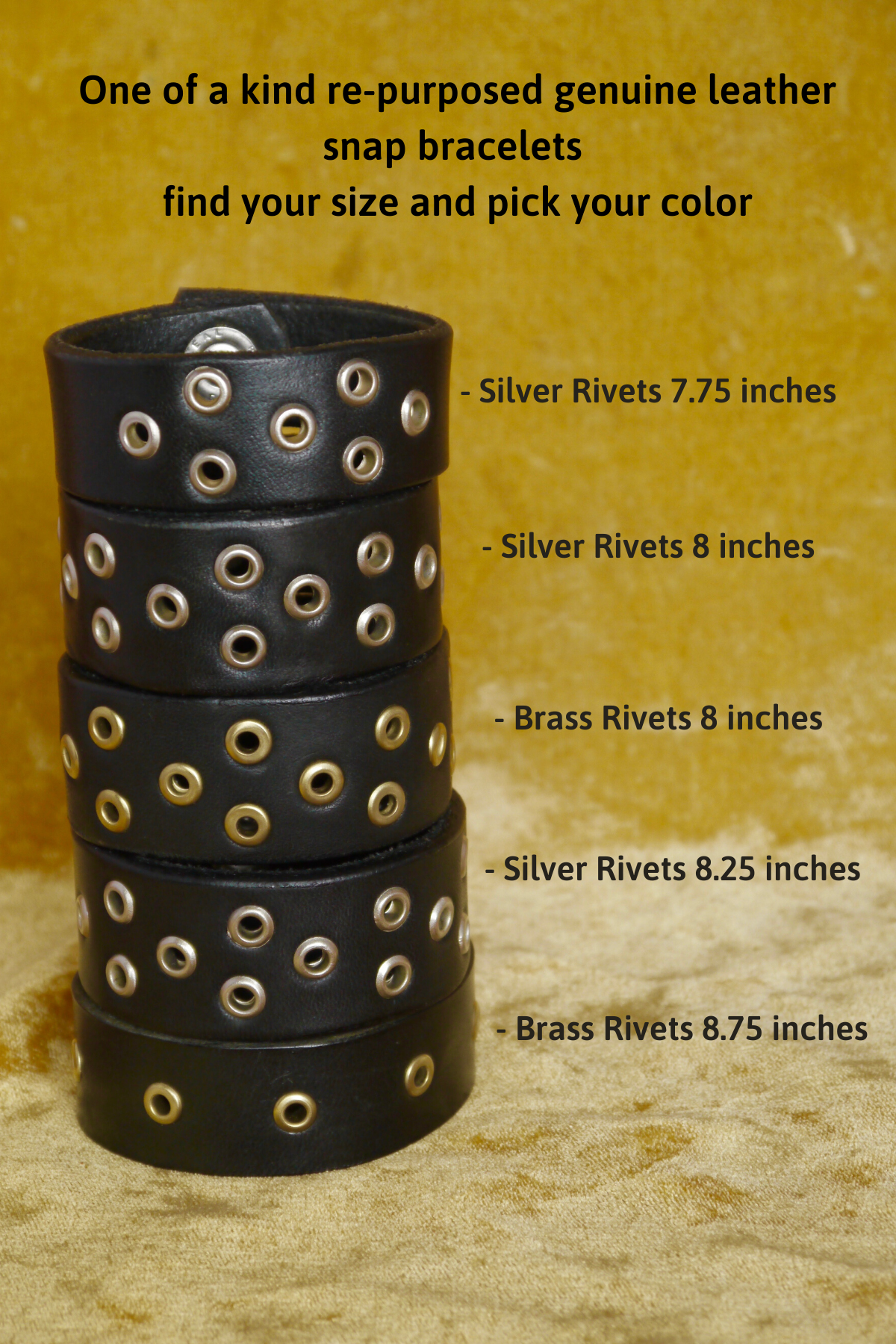 Leather Rivet Bracelets