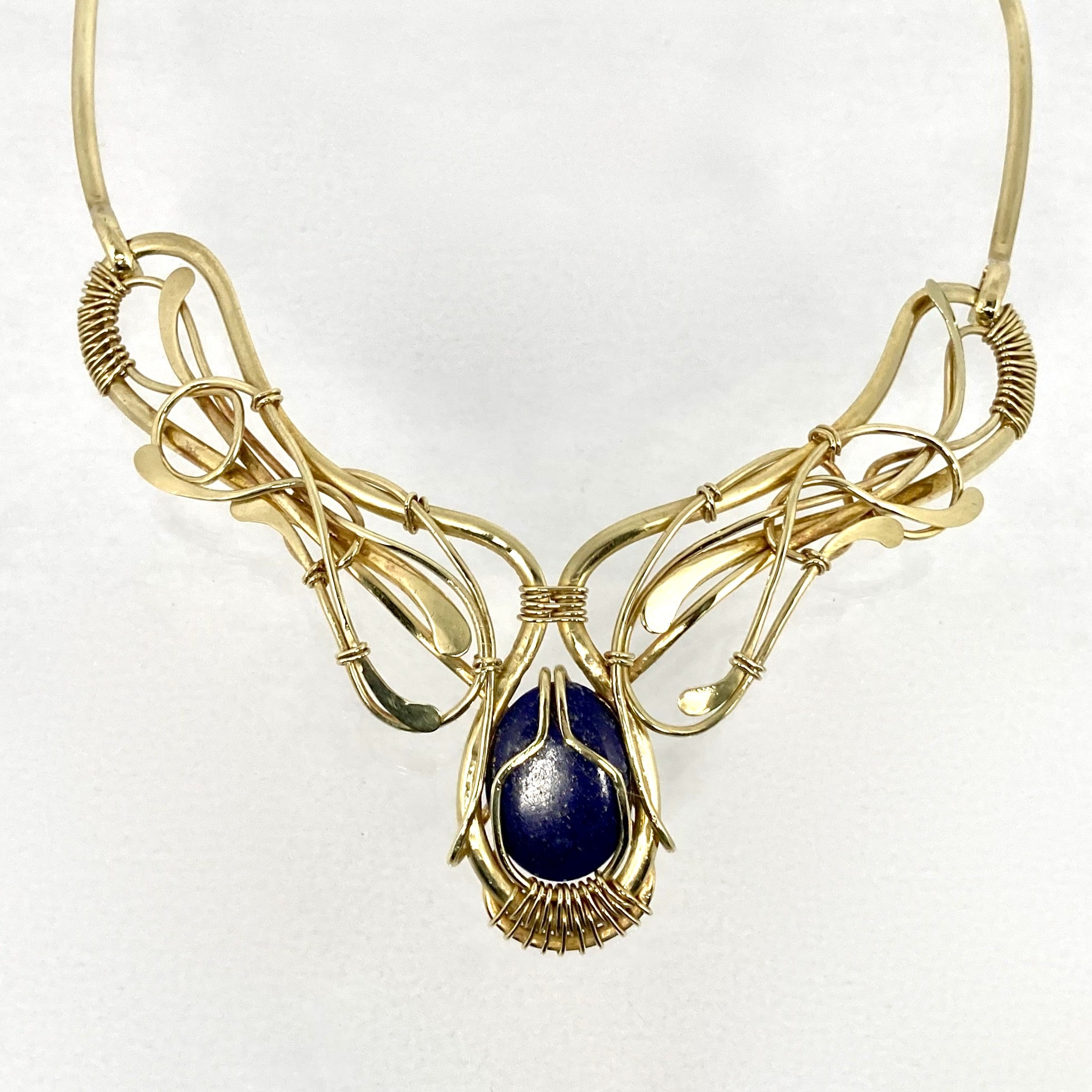 Lovely Lapis Loops Necklace