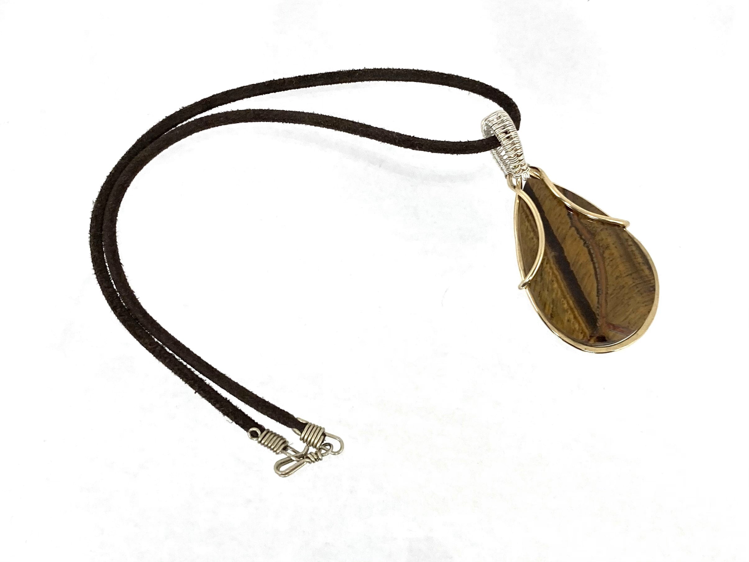 Don't Cry for Me Tiger Eye Necklace