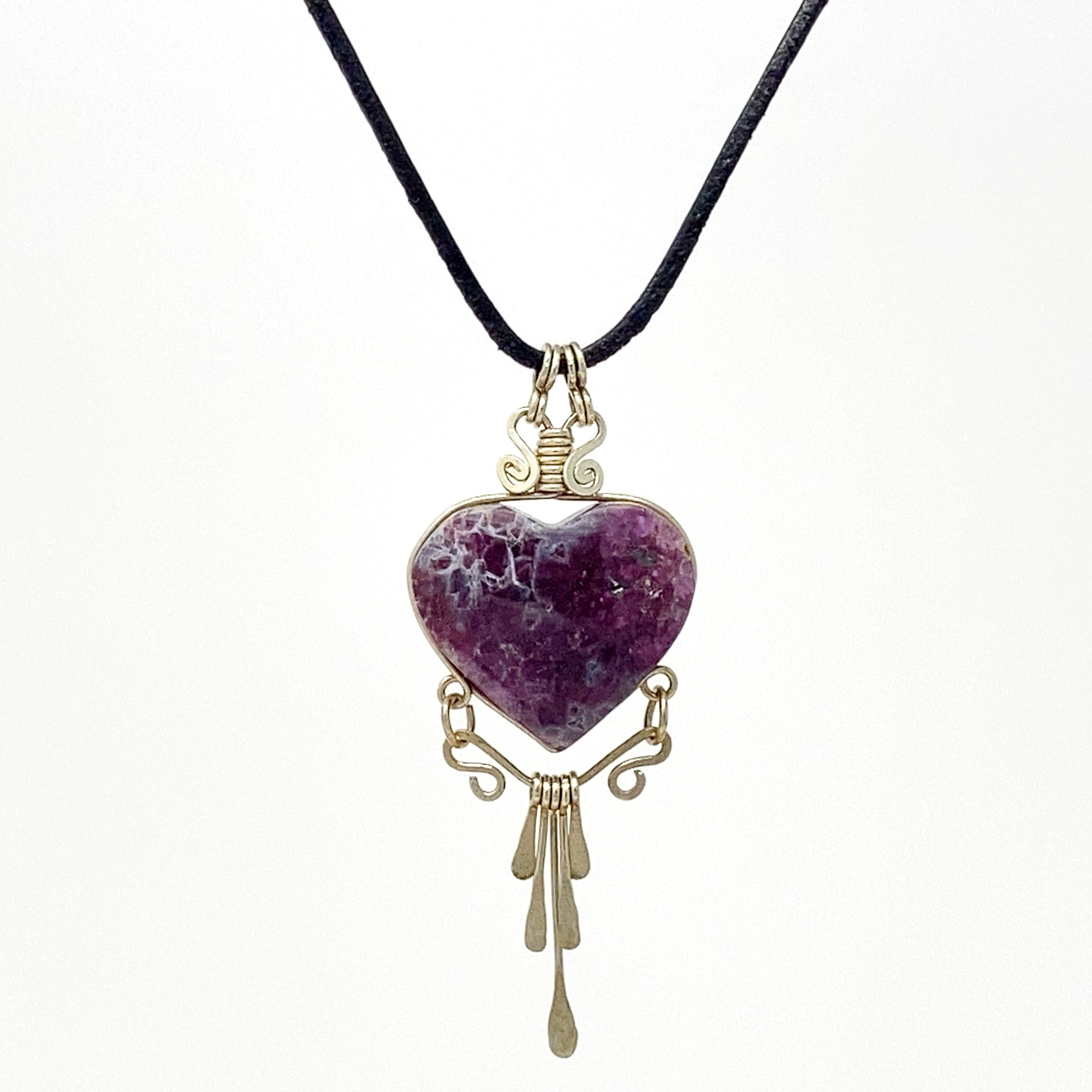 Celebrate Love Amethyst Heart