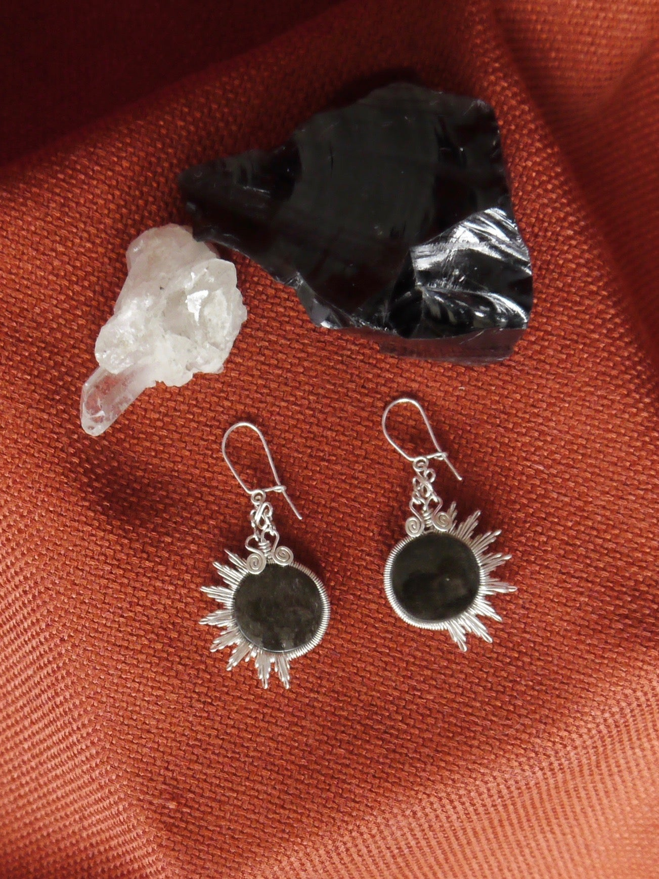 Shadow Light Golden Obsidian Earrings