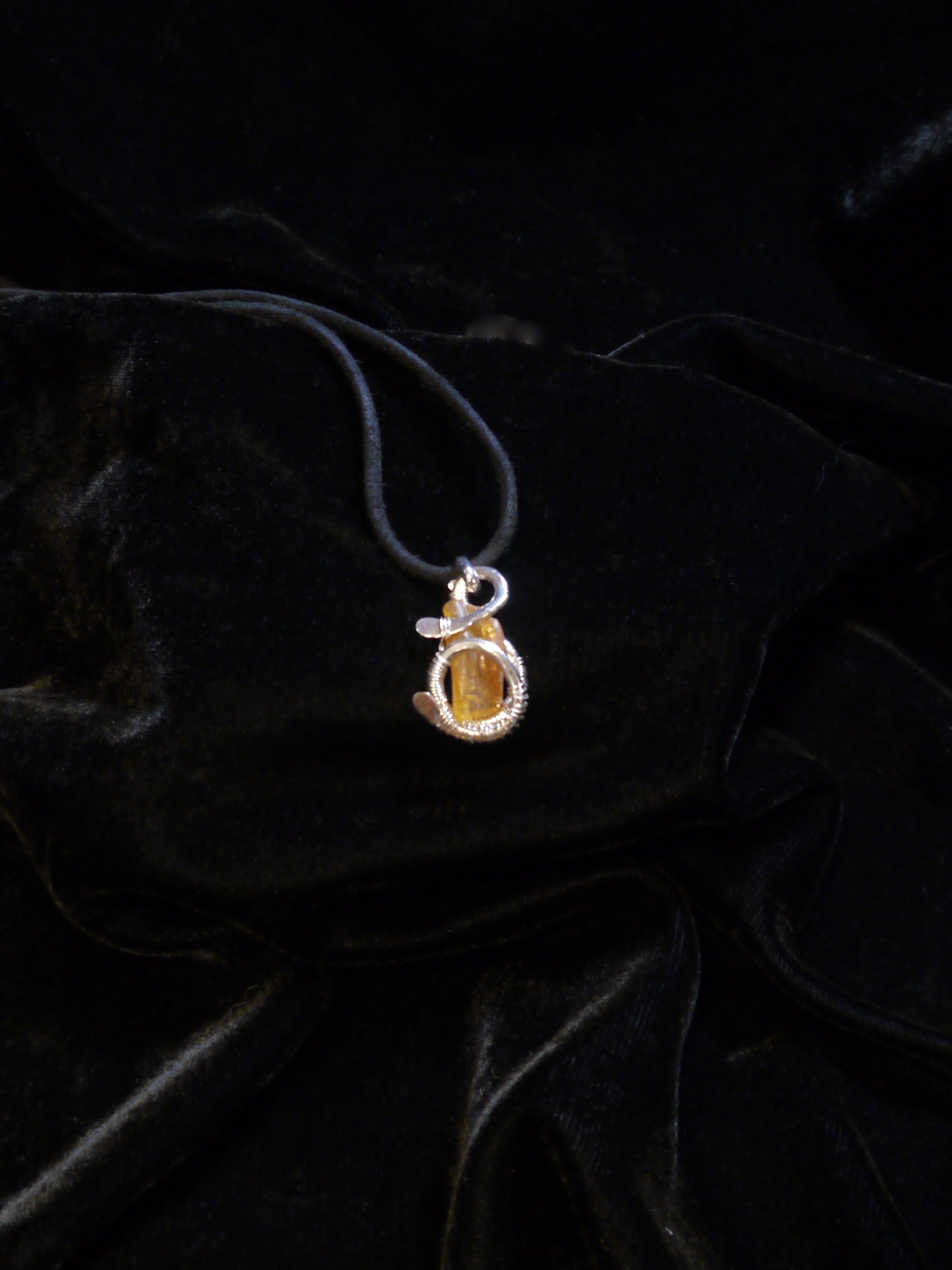 Amber G Clef Necklace