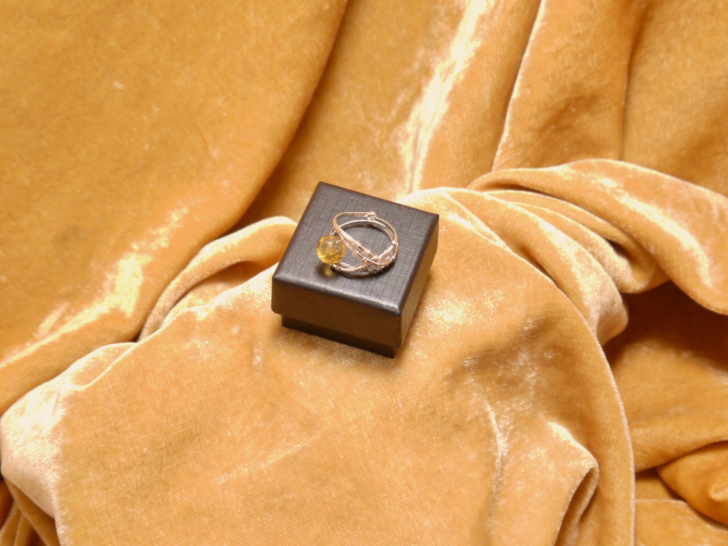 Ancient Sap Amber Ring