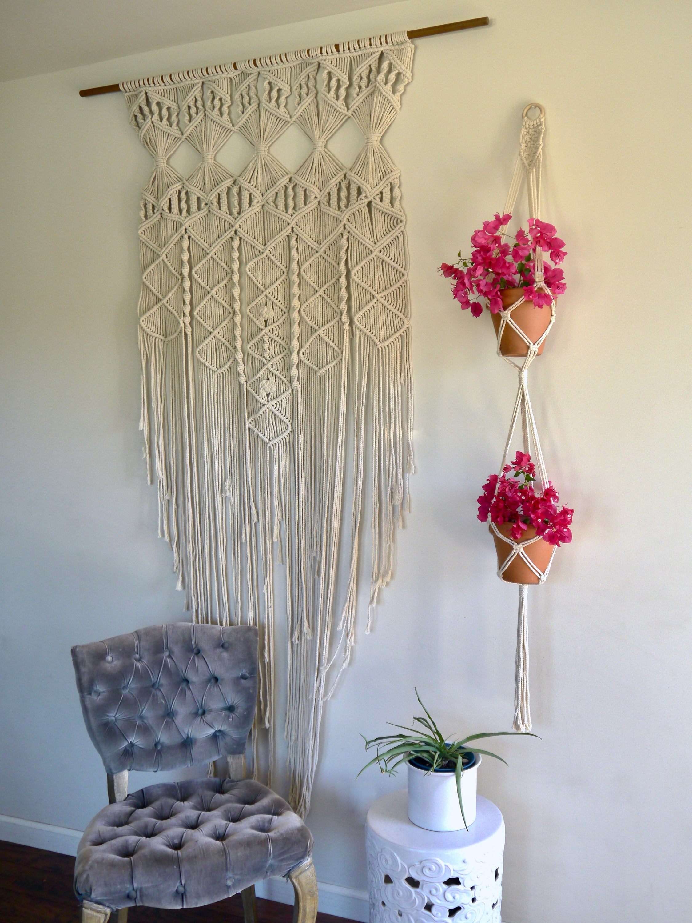 Knots of Love Double Macramé Hanger