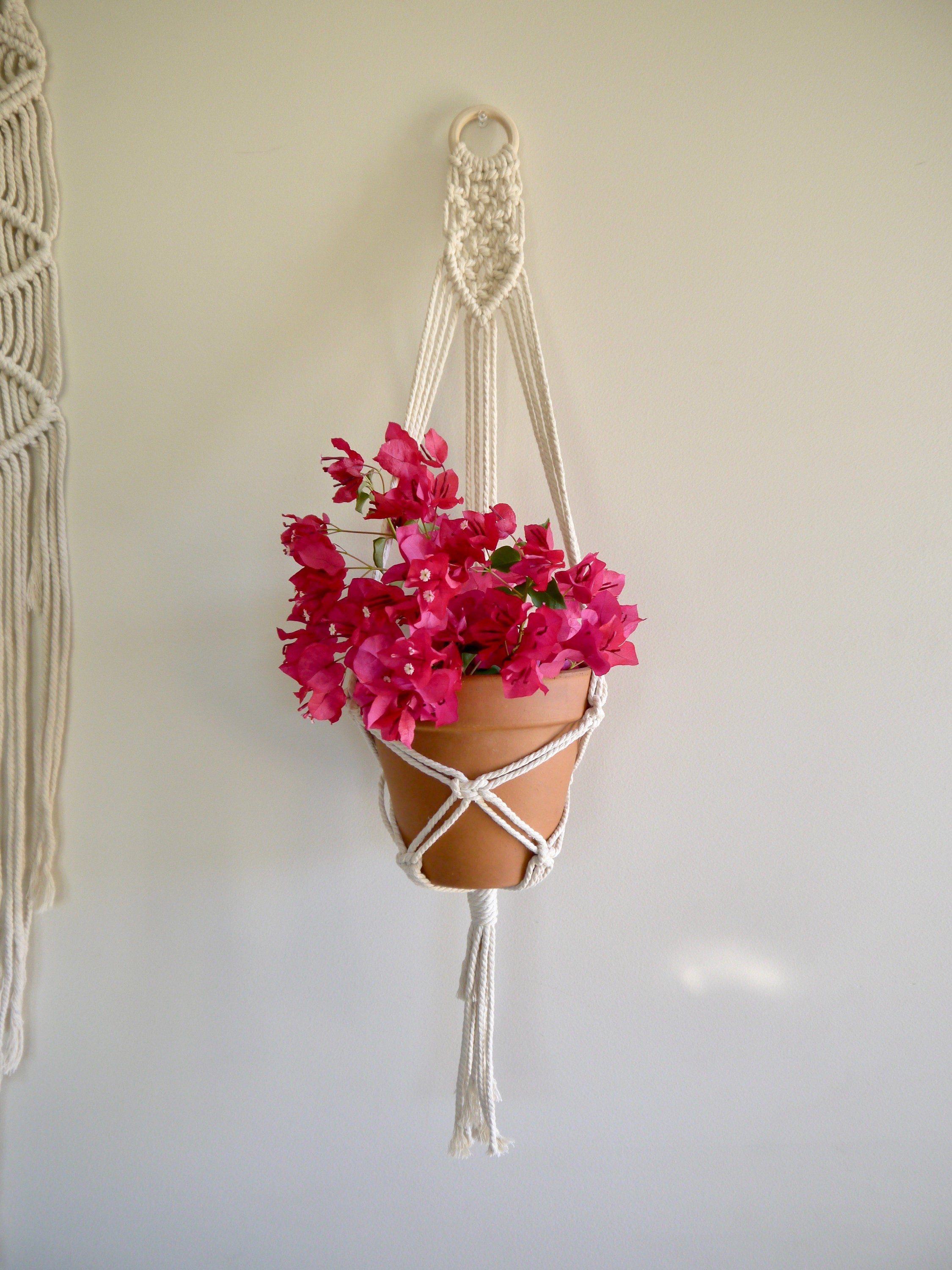 Knots of Love Single Macramé Hanger