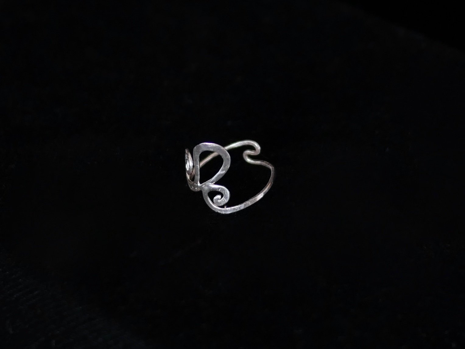 Ocean Wave Silver Wire Ring