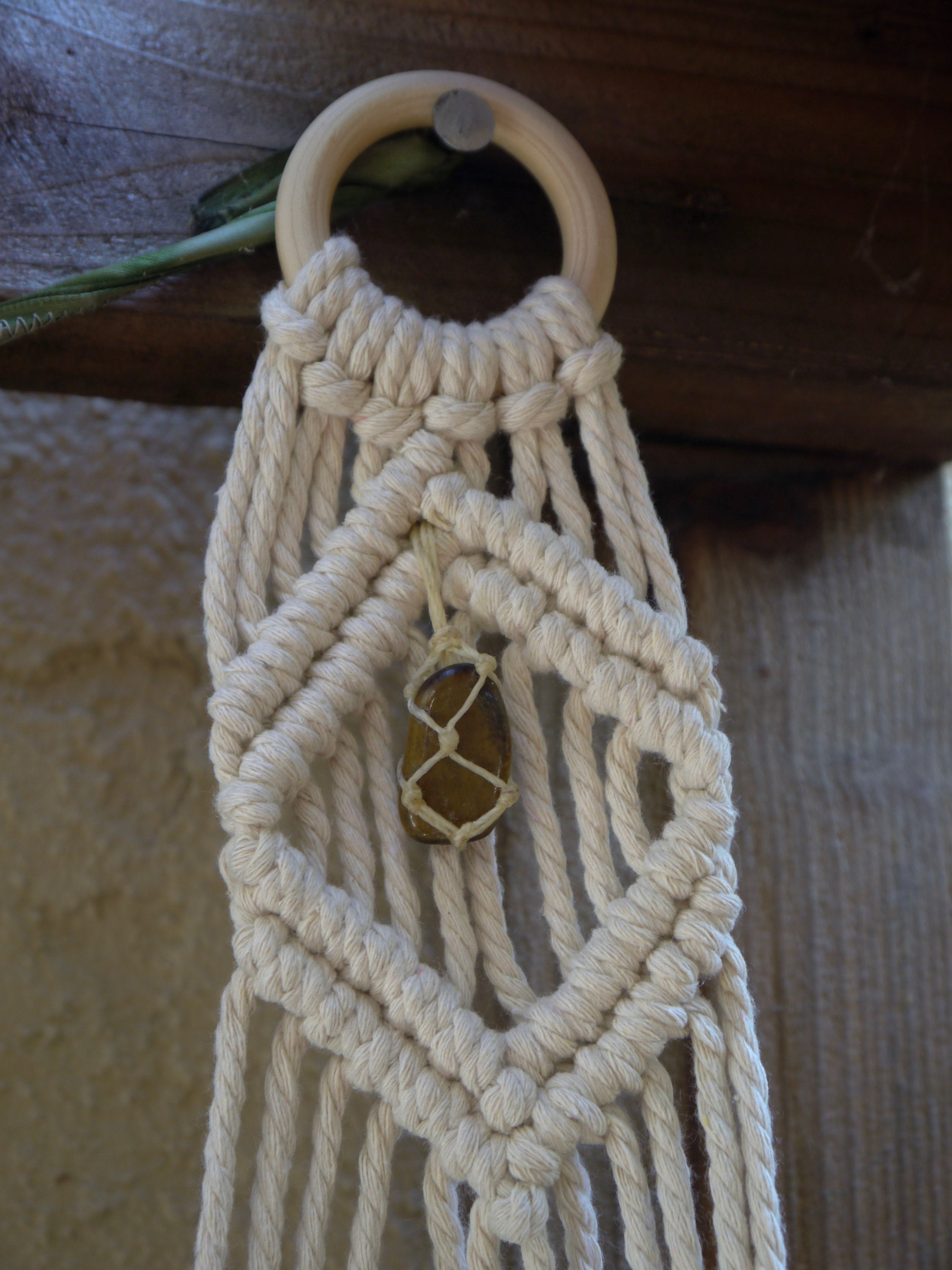 Relaxation Self-Awareness Double Macramé Hanger