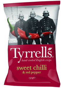Tyrrell's chips with Sweet chili & red pepper (150 g)