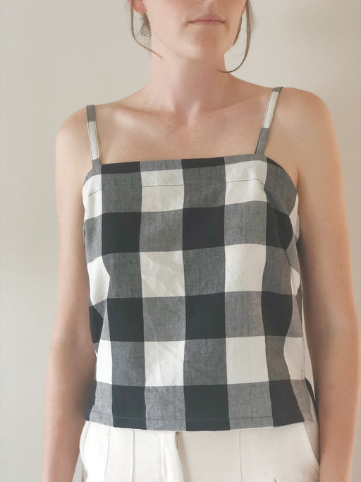 Rainfall cami - black check