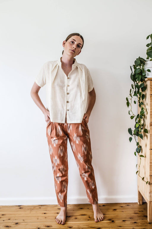 Traveller Pants - Rose Ikat