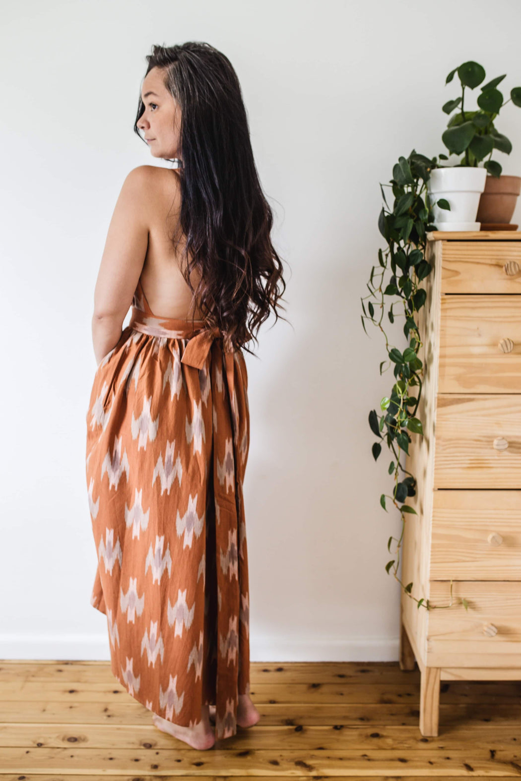 The Poet dress - Rose Ikat