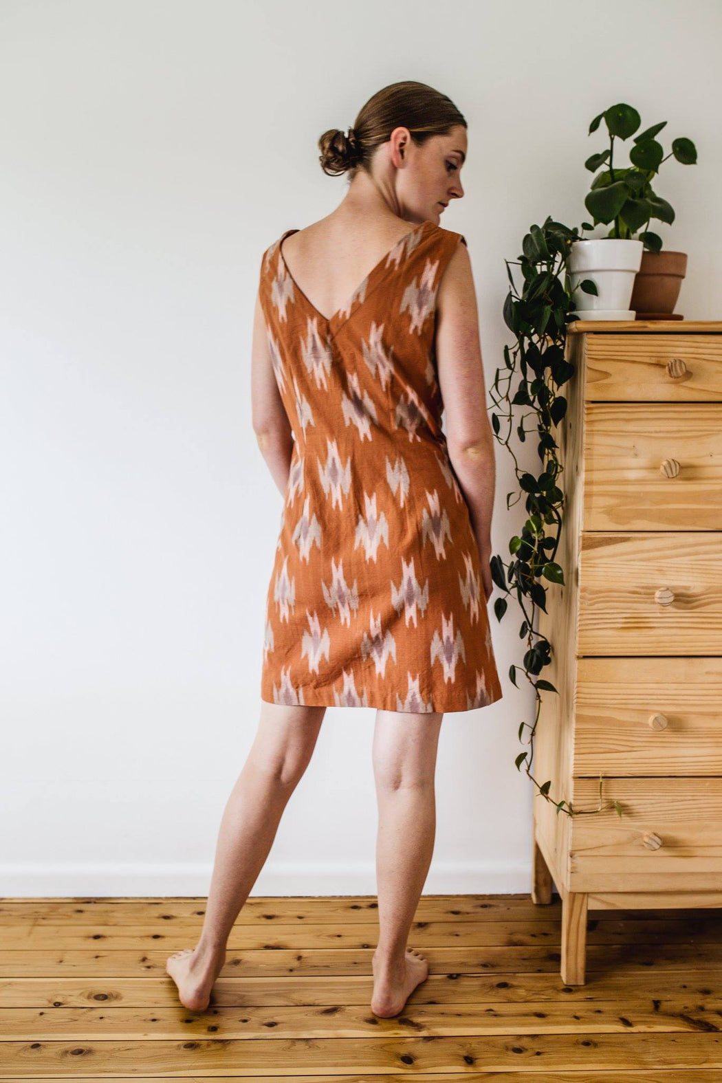Temple dress - Rose Ikat