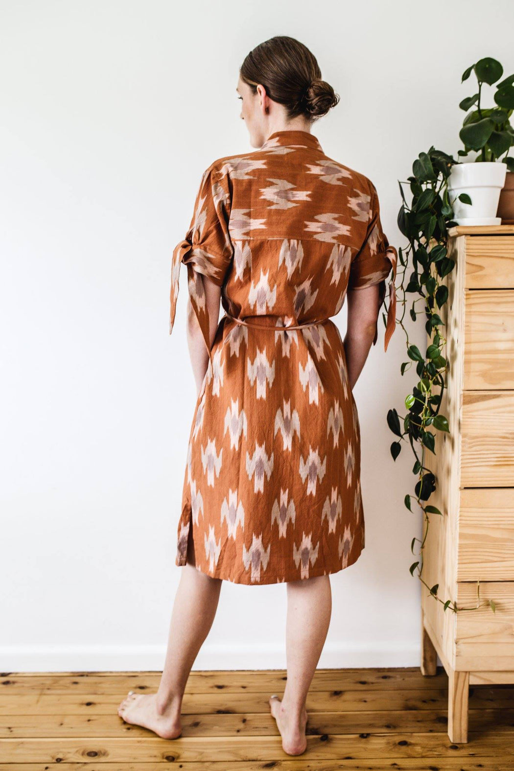 Dew Dress - Rose Ikat