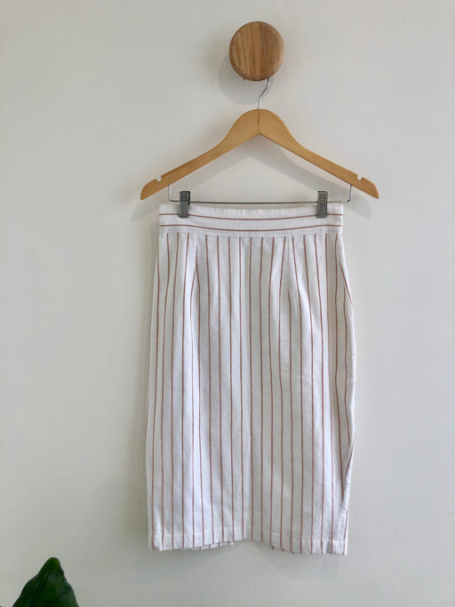 Lucky Skirt - peach stripe