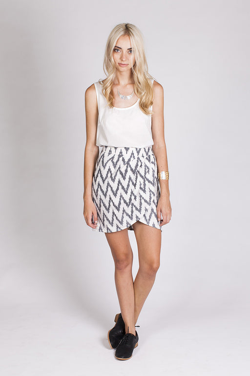 Nomad Skirt - Grey and White
