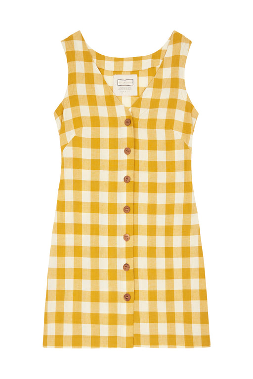 Sunbeam Dress - Turmeric Gingham 2
