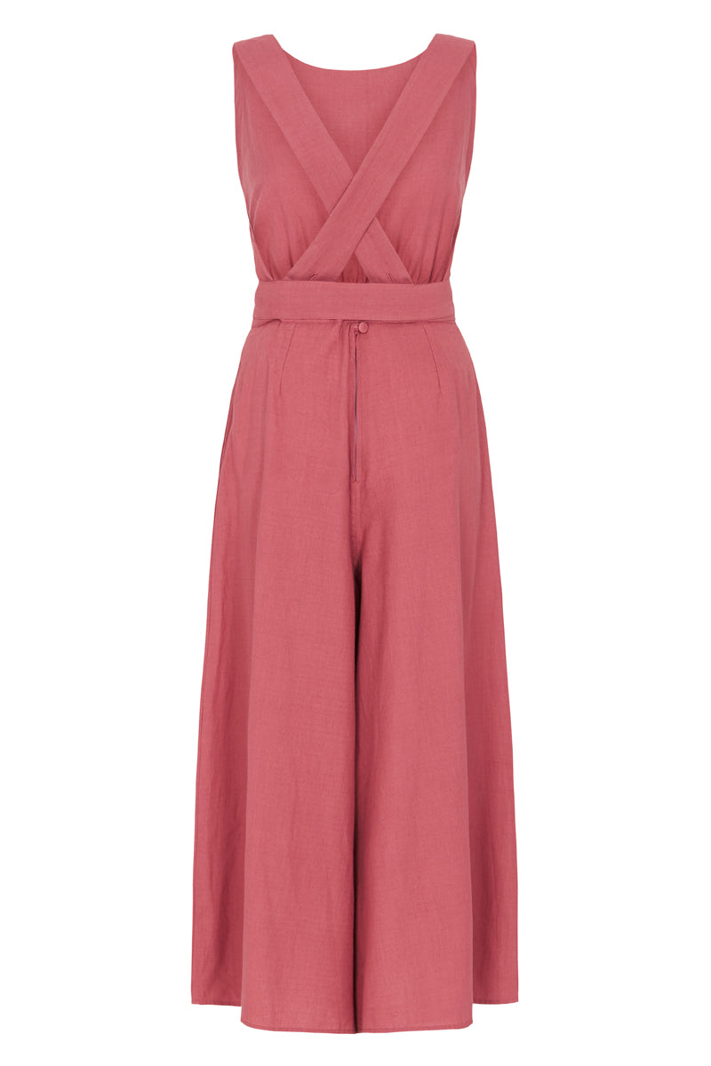 Kick Jump Twist Jumpsuit - Sunset