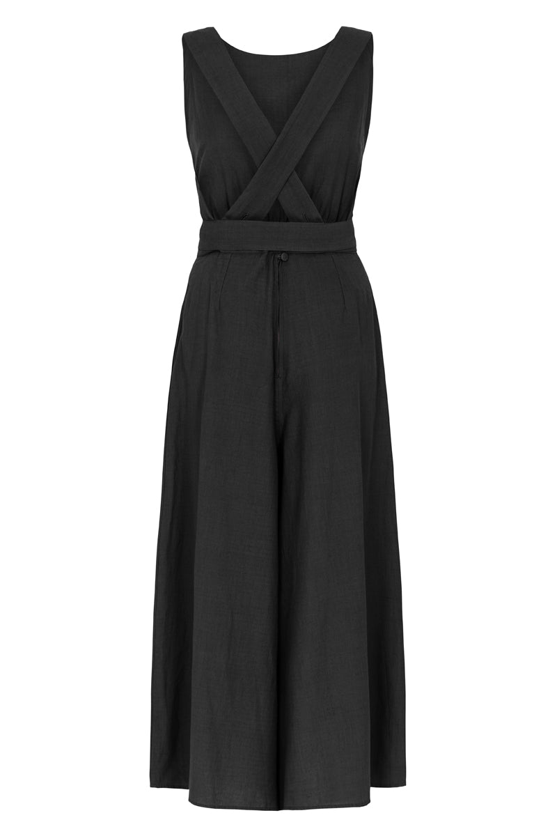 Kick Jump Twist Jumpsuit - Black