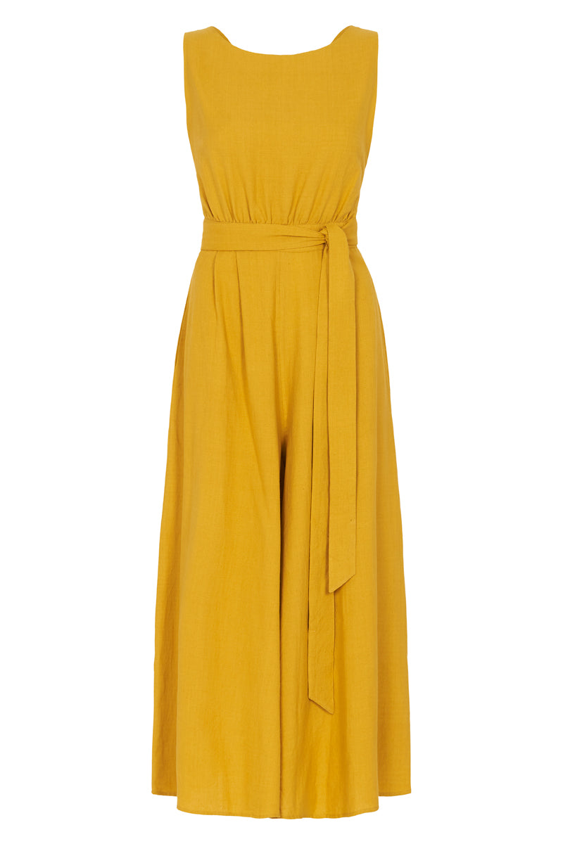 Kick Jump Twist Jumpsuit - Turmeric