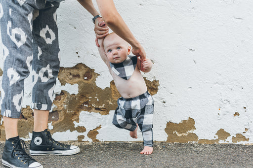 Baby Traveller Pants - Black Check
