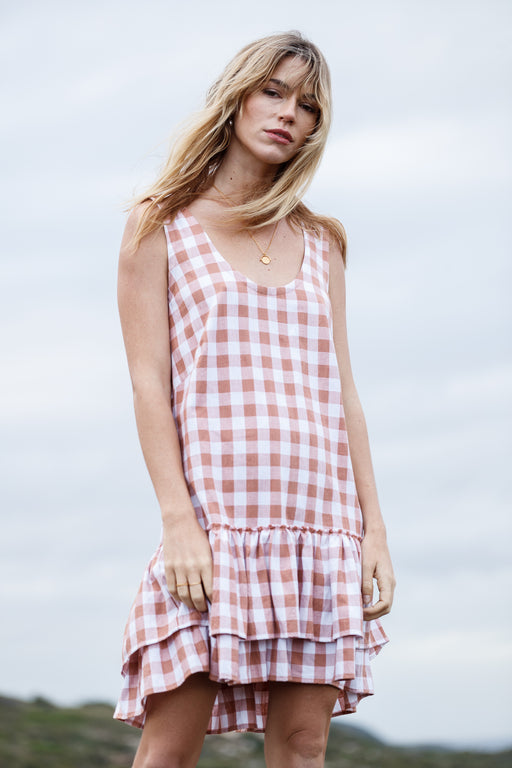 Woven Love Dress - rose gingham
