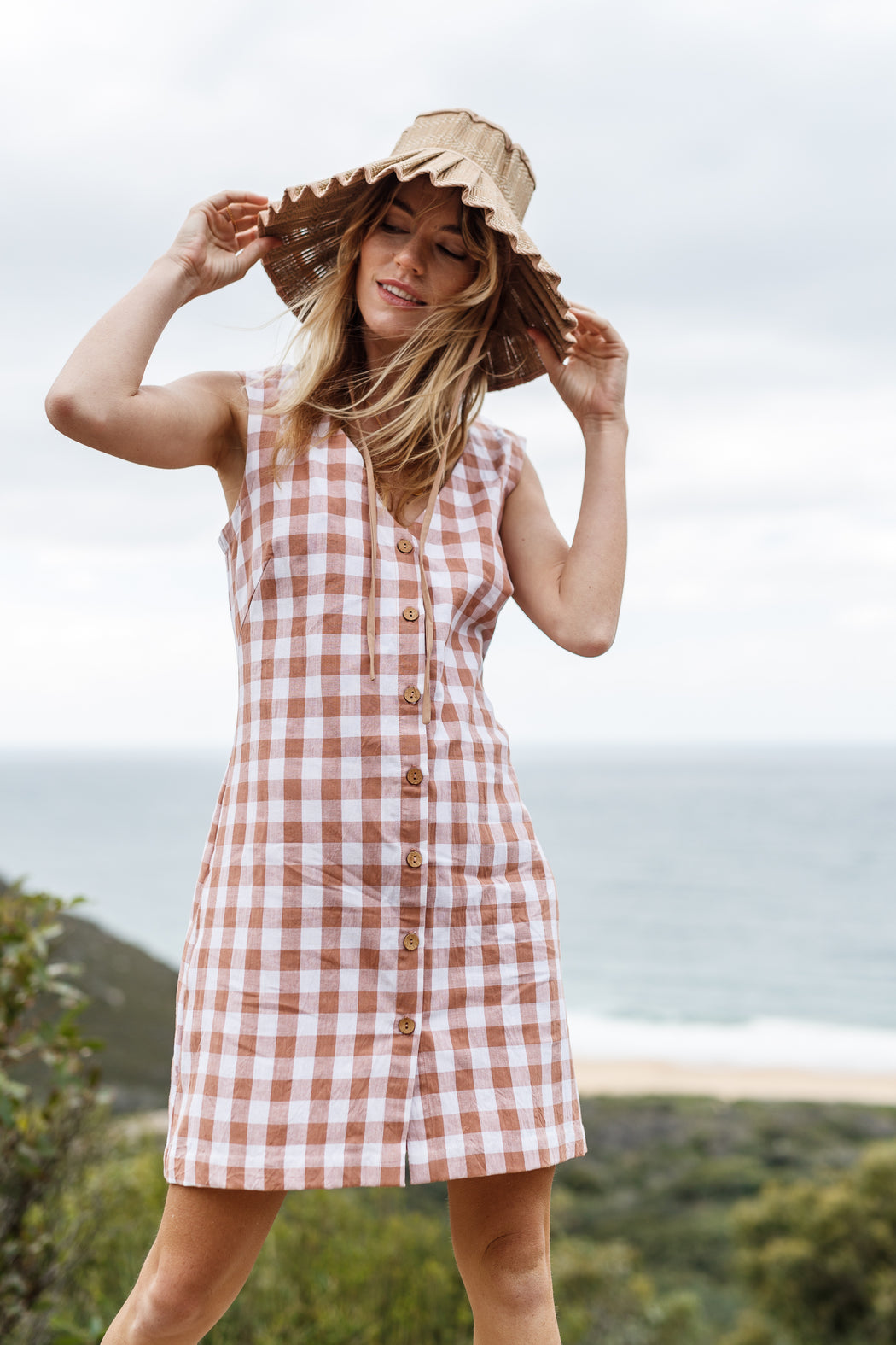 Temple dress - Rose gingham
