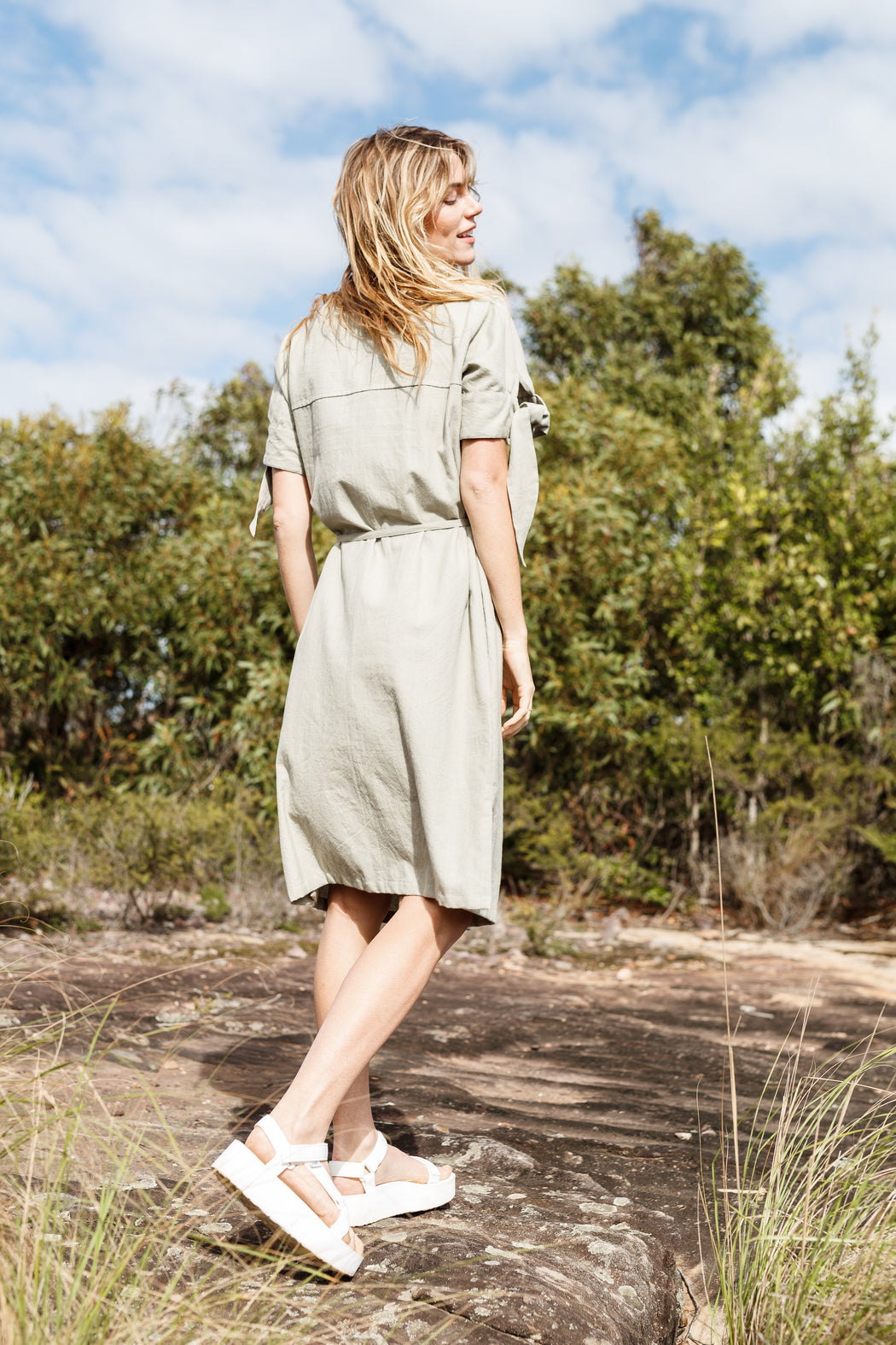 Dew Dress - Sage green