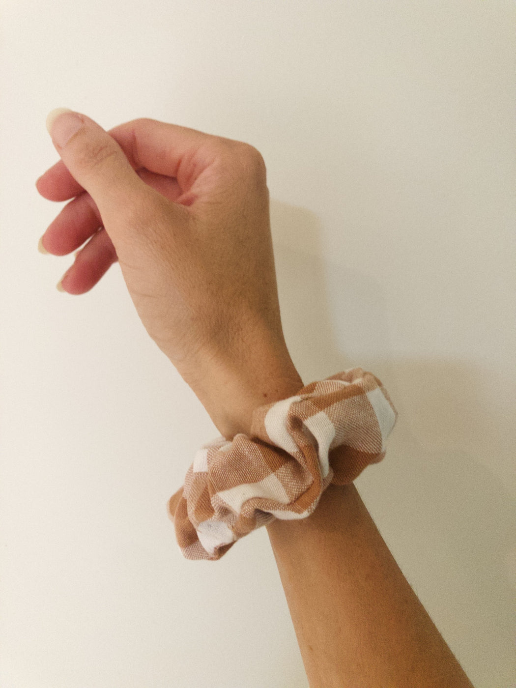 Scrunchie - Rose gingham