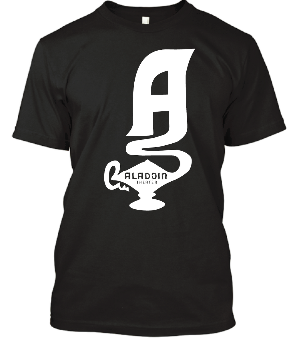 Aladdin Theater Short Sleeve T-shirt - Black