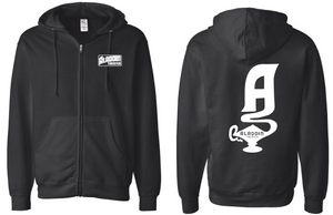 Aladdin Theater Zip-up Hoodie - Black