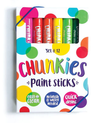 Giftable Chunkies Paint Sticks, No Brush or Water Needed (Set of 12)