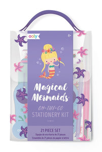 Magical Mermaid On-the-Go Stationery Kit - 21-Piece Gift Set