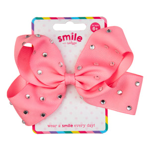 SMILE WITH SMIGGLE: PINK BOW HAIR CLIP