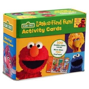 Sesame Street: Elmo, Big Bird, and more! Look and Find Fun! Activity Cards Tin Set