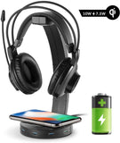 Headphone Stand with Wireless Charging & 4 USB 3.0 Port